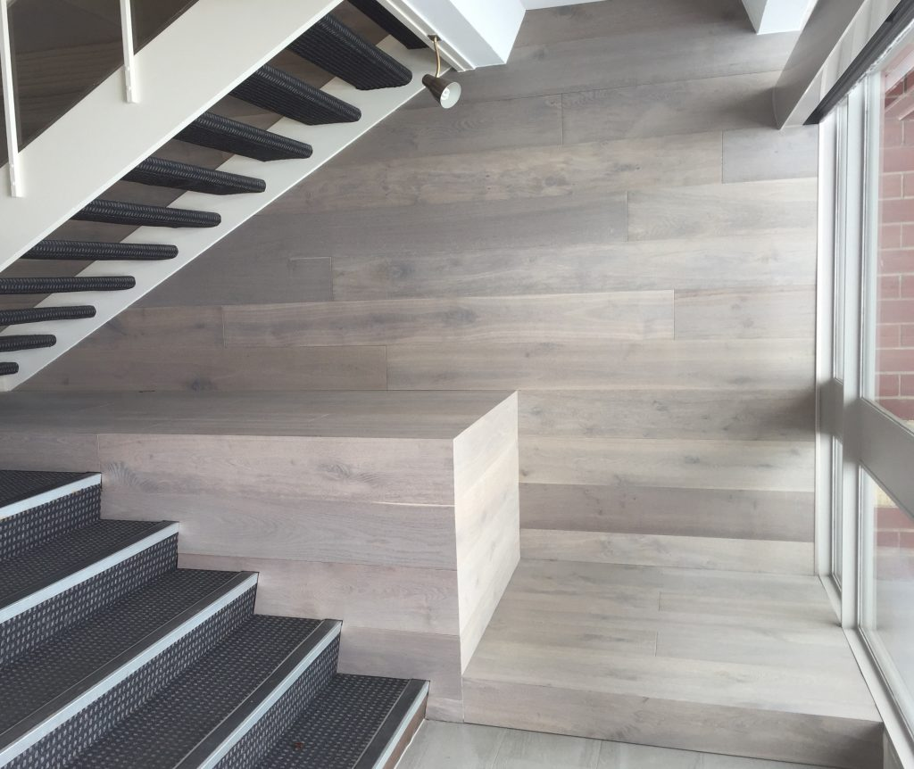 Engineered Timber on Floor and on wall
